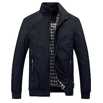 Allthemen mannen solide Business Casual Zipper jas uitloper