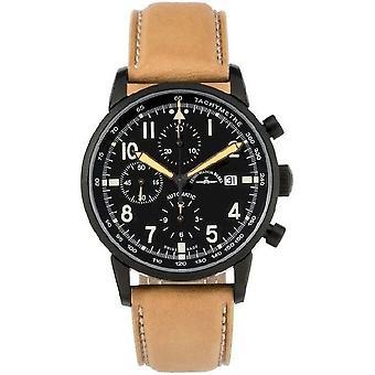 Zeno-Watch Herrenuhr Magellano Pilot Navigator Chrono black 6069TVDN-bk-a1