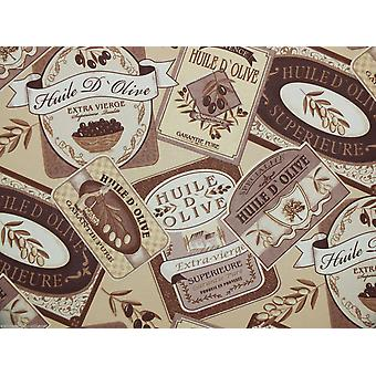 Calidad de Rasch con textura de papel pintado de vinilo lavable característica - marrón crema