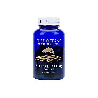 Pure Oceans Fish Oil - Fish Oil 1000mg Omega 3 - 60 Soft Gel Capsules