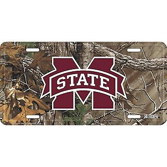 Mississippi State Bulldogs NCAA Camo plaque d'immatriculation