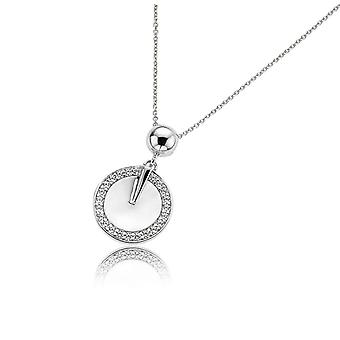 ORPHELIA CHAIN WITH PENDANT COIN 925 SILVER WITH ZIRCONIUM