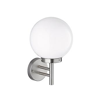 Wofi Remo - 1 Light Outdoor Wall Light Brushed Stainless Steel - 4033.01.97.7002