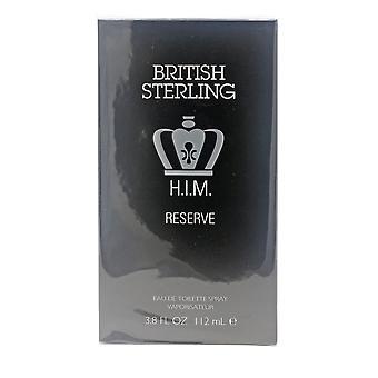 British Sterling him Reserve por Dana Eau de toilette 3.8 oz spray novo na caixa