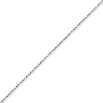 Jewelco London Unisex Solid 18ct White Gold Curb 1.8mm Gauge Pendant Chain Necklace