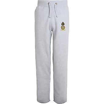 Royal Highland Fusiliers veteran-licenseret British Army broderet åbne hem sweatpants/jogging bunde