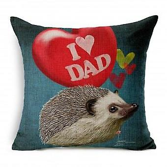 Wellindal I Love Dad Cushion Cover Cotton (Decoration , Cushions)