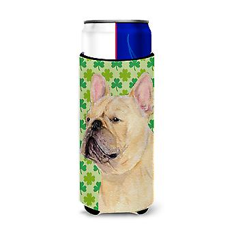 French Bulldog St. Patrick's Day Shamrock Portrait Ultra Beverage Insulators for