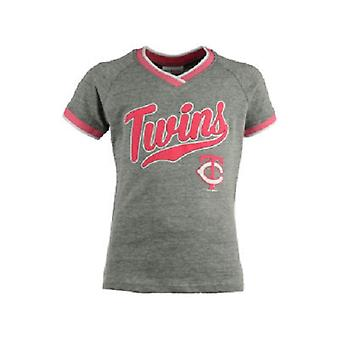 Minnesota Twins MLB 5th & Ocean Girls Vneck Triblend T-Shirt