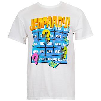 Jeopardy Board White Men's Tee Shirt