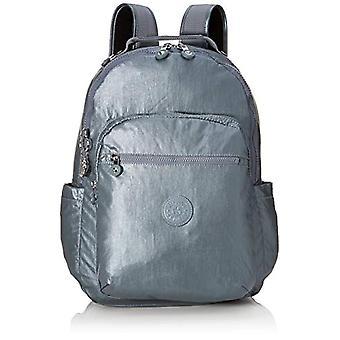 Kipling Basic Plus - Sac à dos scolaire - 44 cm - Steel Gr Metal (Gris) - KI4034H55