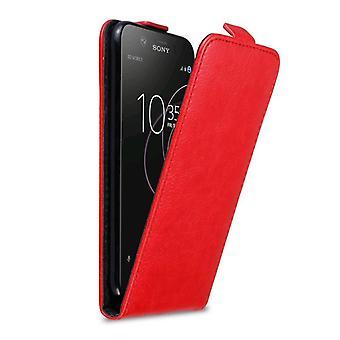 Cadorabo Hülle für Sony Xperia XZ1 Case Cover - Handyhülle im Flip Design mit Magnetverschluss - Case Cover Schutzhülle Etui Tasche Book Klapp Style