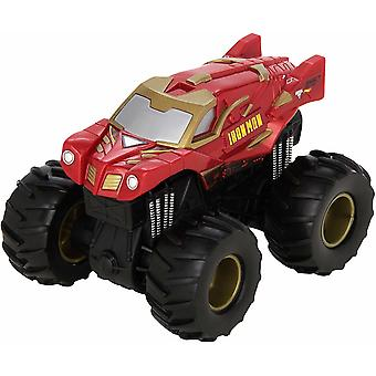 Hot Wheels Monster Jam Rev Tredz Iron Man coche de juguete de fricción 12cm