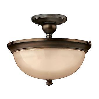 Elstead - 3 světle polosplachovací stropní světlo Olde Bronze - HK/MAYFLOWER/SF