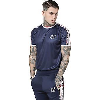 Sik Silk Starlite Raglan Tape T-Shirt Navy 38
