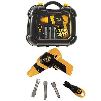 HTI JCB Drill Tool Carry Case & Tools Play Set For Kids Boys & Girls
