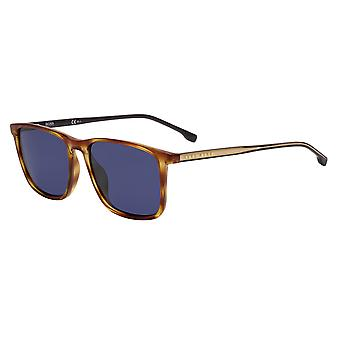 Hugo Boss 1046/S EX4/KU Brown Horn/Blue Sunglasses