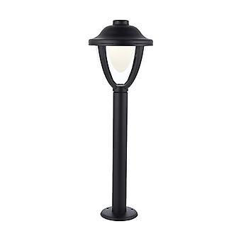 Saxby Lighting Larkin Integrated LED 1 Light Outdoor Bollard Post Textured Black, Clear IP44 79206