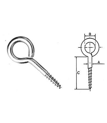 Eyelet Eyepin Screw - 36 X4 Mm T304 (a2) Stainless Steel