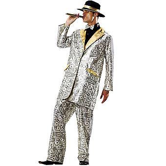 Men's Money Suit Halloween Costume, Medium