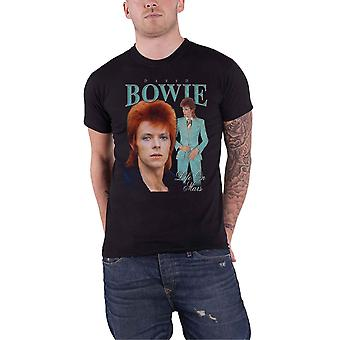 David Bowie T Shirt Life On Mars Homage Logo new Official Mens Black