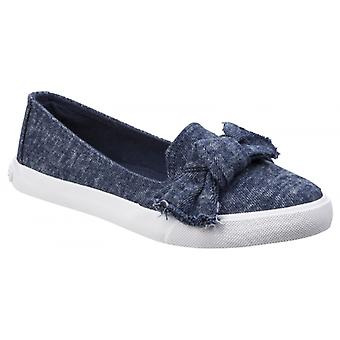 Rocket perro Clarita Stonewash señoras textil Slip en zapatos azul