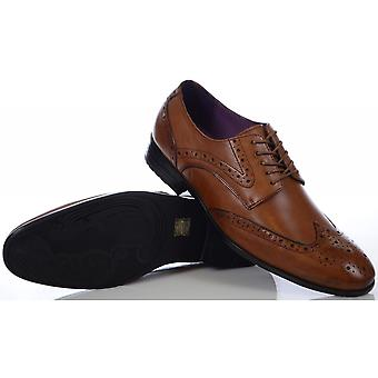 Azor Shoes Burford Tan Brown Shoes