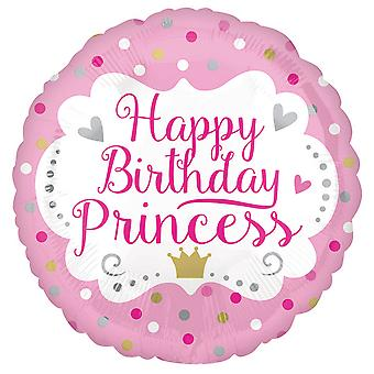 Anagram 18in Happy Birthday Princess Round Foil Balloon