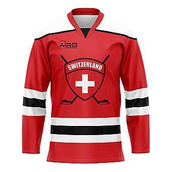 Schweiz Home Eishockey Shirt