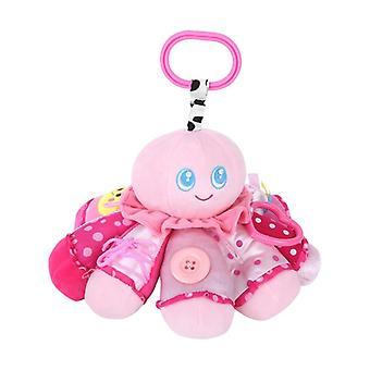 Lorelli blæksprutte i pink, nuttet legetøj, rasle, Griffin, spejl, fra fødslen