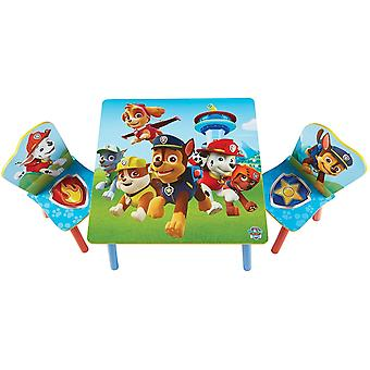 Paw Patrol Set Table with 2 wooden chairs