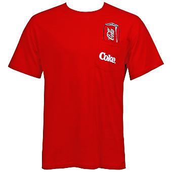 Coca-Cola Men's Red Pocket T-Shirt