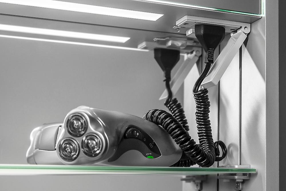 Olympia LED salle de bain miroir cabine avec capteur & rasoir k258aud