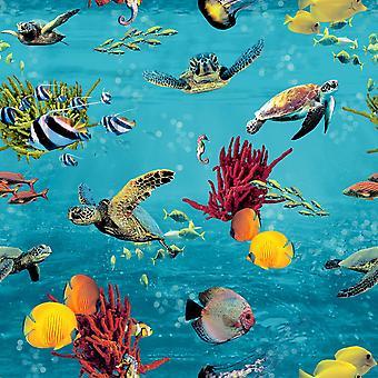 Portfolio XII Sea Life Wallpaper Multi Rasch 310405