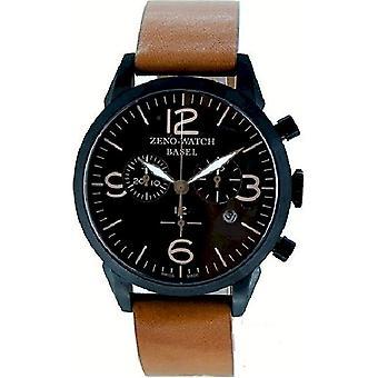 Zeno-Watch - Assista - Homens - Cronógrafo da Linha Vintage - 4773Q-BL-i1-2