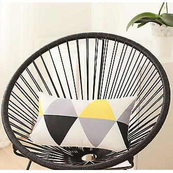 "20""x 12"" Yellow Gray Skandi Modern Decorative Throw Pillow Cover"