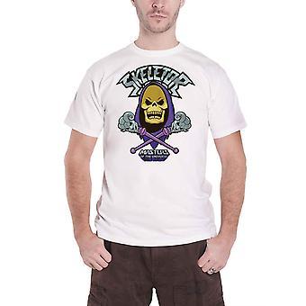 He Man T Shirt Skeletor Cross Logo new Official Mens White