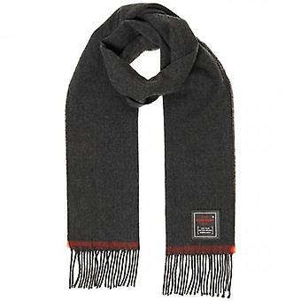 Superdry Solid Capital Tassel Scarf Dark Charcoal Grey 6Q4