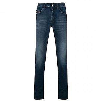 Diesel Thommer Stretch Mid Blue Washed Denim Faded Jeans 087AS