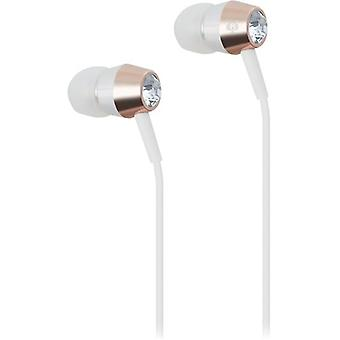 kate spade Earbuds in-Ear Headphones with Gold & Silver Trim - Tanzanite