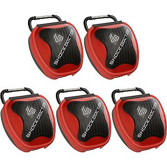 Shock Doctor 5-Pack Mouthguard Case - Red