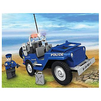 Action Town 100 Piece Willys MB Jeep Police Patrol Car Set