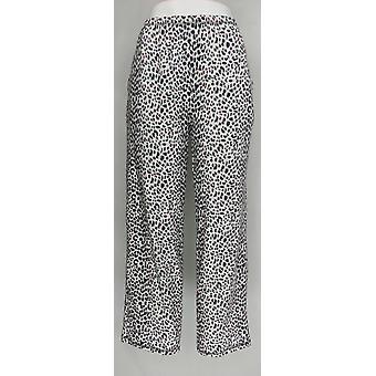 Carole Hochman Women's Pajama Pants Tall Waffle Novelty White A311261