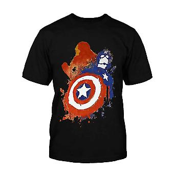 Official Kids Captain America T Shirt Superhero Civil War Iron Man new Black