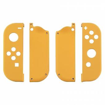 Housing shell for nintendo switch joy-con controller hard casing replacement soft touch - yellow | zedlabz