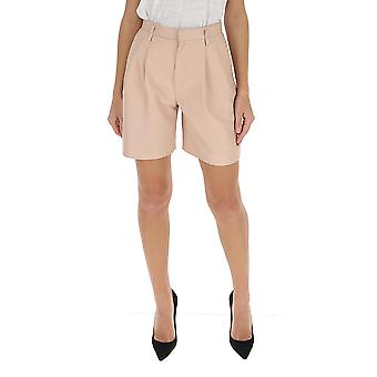 Red Valentino Tr3nh00k4tj377 Women's Nude Leather Shorts
