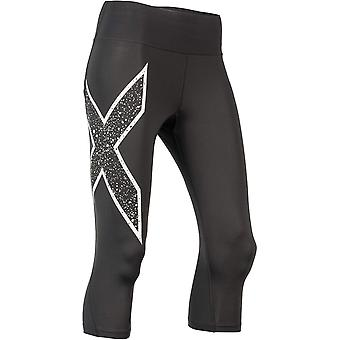 2XU Womens Bonded Mid Rise 3/4 Tights