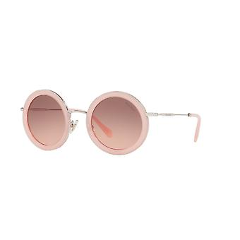 Miu Miu SMU59U 1350A5 Opal Pink/Pink Gradient Dark Brown Sunglasses
