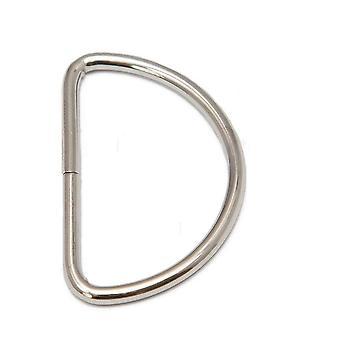 Hebillas de anillo D de latón antiguo