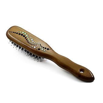 Wooden hair brush HBMB-18.5